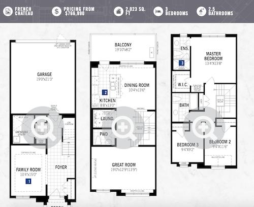 Mattamy Homes Oakville Twinflower Layout