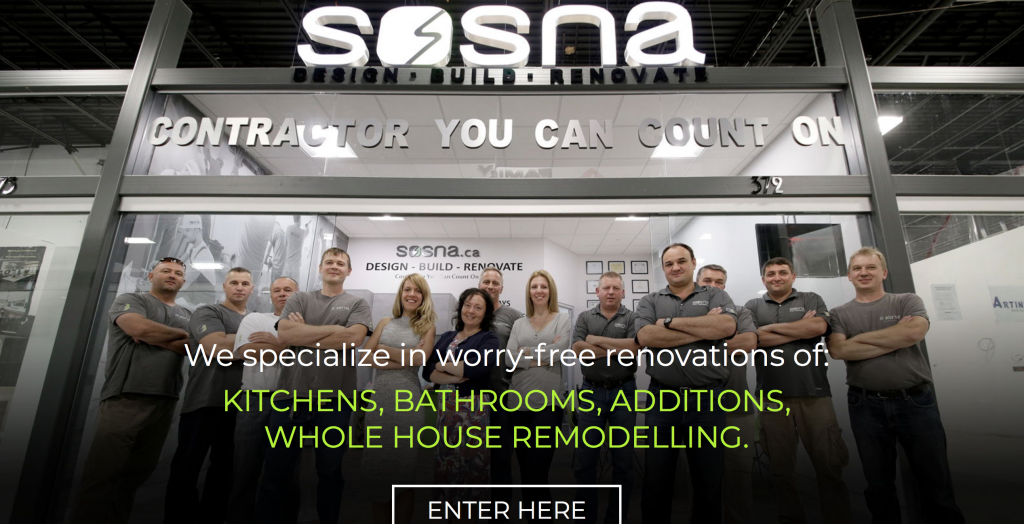 Sosna Custom Home Renovations Toronto
